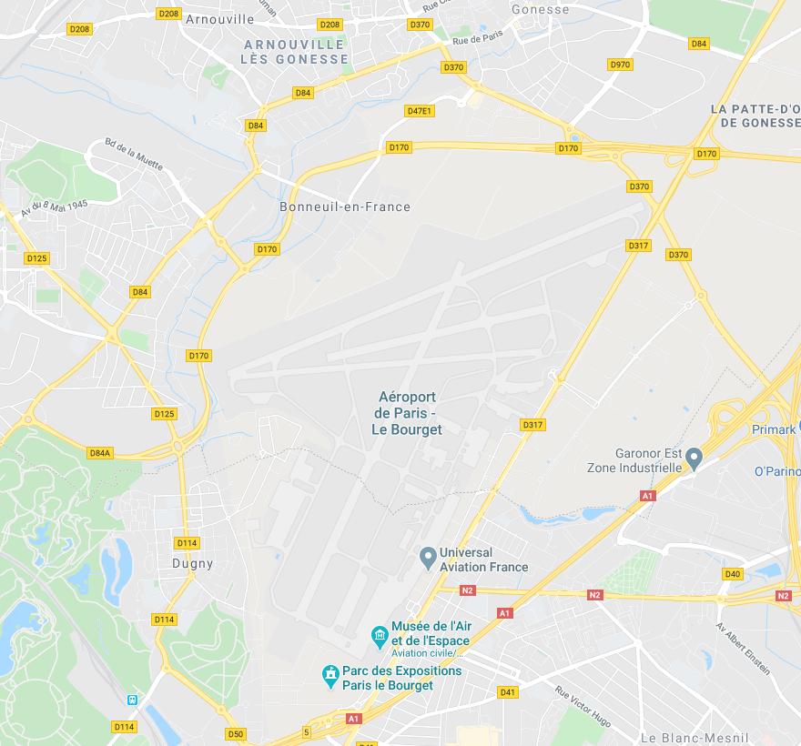 Adresse de l'aéroport